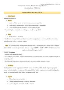 TRAUMATOLOGIA 3 E TOXICOLOGIA