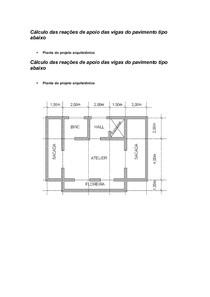 Cálculo das reações de apoio de vigas do pavimento tipo