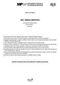 Concurso Público - vunesp 2014 mpe sp auxiliar de promotoria prova