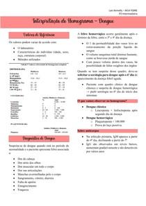 Interpretação do Hemograma - Aplicado para Dengue