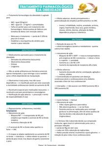 Tratamento Farmacológico para Obesidade - Farmacologia
