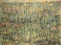 Vincent Willem van Gogh-Pastagem-em-Bloom