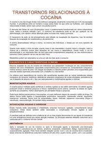 TRANSTORNOS RELACIONADOS À COCAÍNA