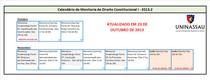 Calendário de Monitoria de D. Constitucional I - 2013.2