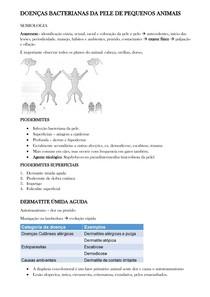 INFECÇÕES BACTERIANAS DA PELE DE PEQUENOS ANIMAIS