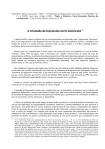 Maria da Conceicao Tavares 1985 - sobre a hegemonia norte americana