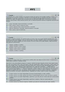AV1 e AV2. METODOLOGIA CIENTÍFICA. 2014.2. (1)