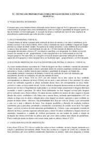 VI   TÉCNICA DE PREPARO PARA COROA METALOCERÂMICA (TÉCNICA DA SILHUETA)