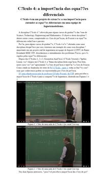 Cálculo 4: a importância das equações diferenciais