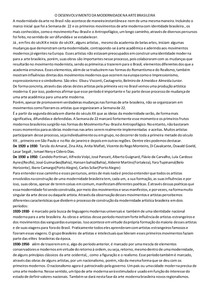 O DESENVOLVIMENTO DA MODERNIDADE NA ARTE BRASILEIRA