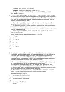 Acadêmico prova libras 2