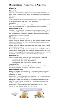 Biomecânica - Conceitos e Aspectos Gerais