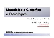 Metodologia Científica e Tecnológica - Módulo 7