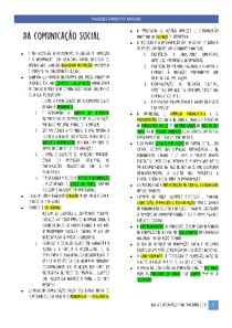 Constituição Federal Esquematizada - Da comunicação social