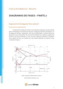 """O diagrama Fe-Fe3C (diagrama """"Ferro-Carbono"""") - Resumo"""