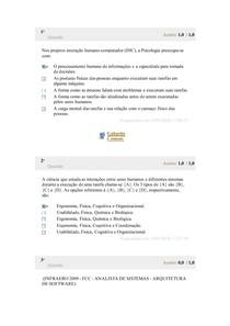 Avaliação Parcial - ENGENHARIA DE USABILIDADE E INTERFACES