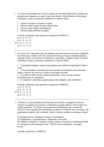 AV II contabilidade intermediaria