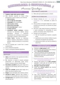 Anamnese Ginecológica - Semiologia - Ginecologia