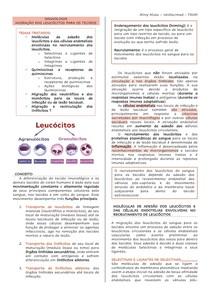 IMUNOLOGIA- migração de leucócitos para os tecidos