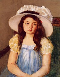 Mary Cassat - Francoise-Wearing-a-Big-White-Hat