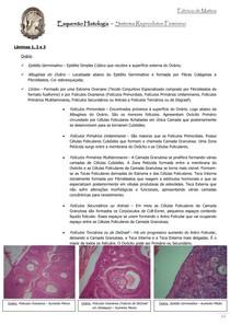 Esquemo Histologia  Sistema Reprodutor Feminino Parte I