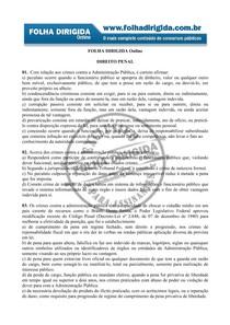 Questões Direito Penal  FOLHA DIRIGIDA