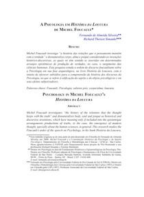 A Psicologia em História da Loucura de Michel Foucault