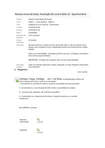 avaliação online 4 físico-química
