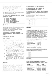 CAPITAL DE GIRO E ANÁLISE FINANCEIRA (1) UNOPAR
