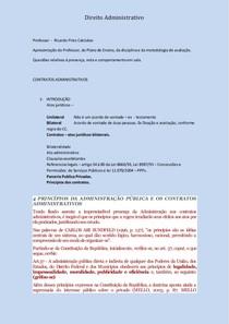 Plano de Ensino Direito Administrativo - Professor Ricardo Pires Calciolan