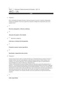Liderança e Desenvolvimento de Equipes - 20211