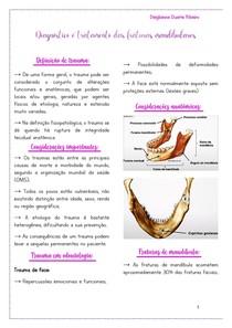 Diagnóstico e tratamento das fraturas mandibulares