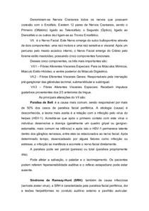 PARALISIAS DO VII CRANIANO - ALTERAÇÕES AUDITIVAS