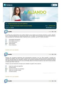 BASES DE BIOLOGIA CELULAR E GENÉTICA - AVALIANDO APRENDIZADO 4 - ESTÁCIO - 2020-1