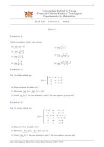 Lista1 Calculo 1 UFV