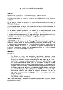 NP1   PSICOLOGIA INTERDISCIPLINAR