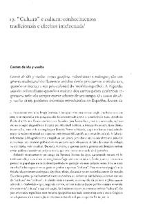 CARNEIRO DA CUNHA, Maria Manuela (2009).  'Cultura' e cultura conhecimentos tradicionais e direitos intelectuais.