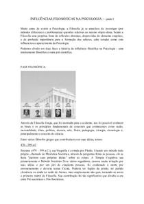 INFLUÊNCIAS FILOSÓFICAS NA PSICOLOGIA 2