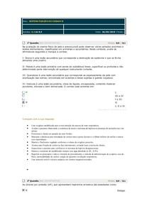 Avaliando aprendizado 3 Sistematização do cuidar II