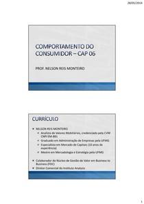 Capítulo 6 - Comportamento do Consumidor