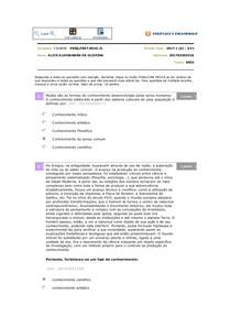 avaliação PESQUISA E PRÁRICA II online