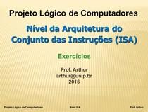 Projeto Logico de Computadores   02   Nivel ISA   Exercicios