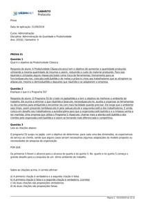 Administração da Qualidade e Produtividade_Unigran_P1 P2