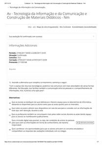 Tecnologia da Informação e da Comunicação e Construção de Materiais Didáticos -UNOPAR