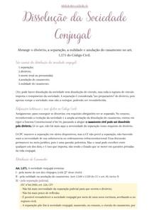 Direito Civil V - Aula 11 - Dissolução da Sociedade Conjugal
