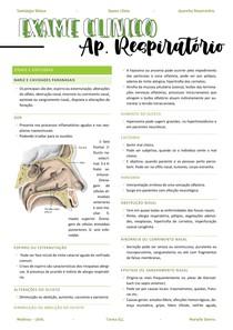 Resumo aparelho respiratório - sinais e sintomas