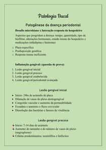 Patologia Bucal - Patogênese na doença periodontal