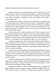 PIGMENTOS RESPIRATÓRIOS NA LUTA CONTRA O COVID-19
