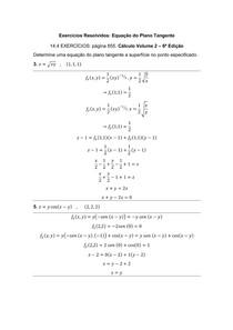 Exercícios Resolvidos _ Equação do Plano Tangente