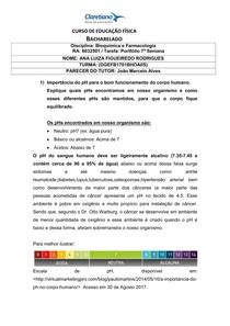 PORTFÓLIO 7ª SEMANA Bioquímica e Farmacologia